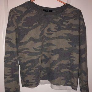 Cropped Camo Sweatshirt